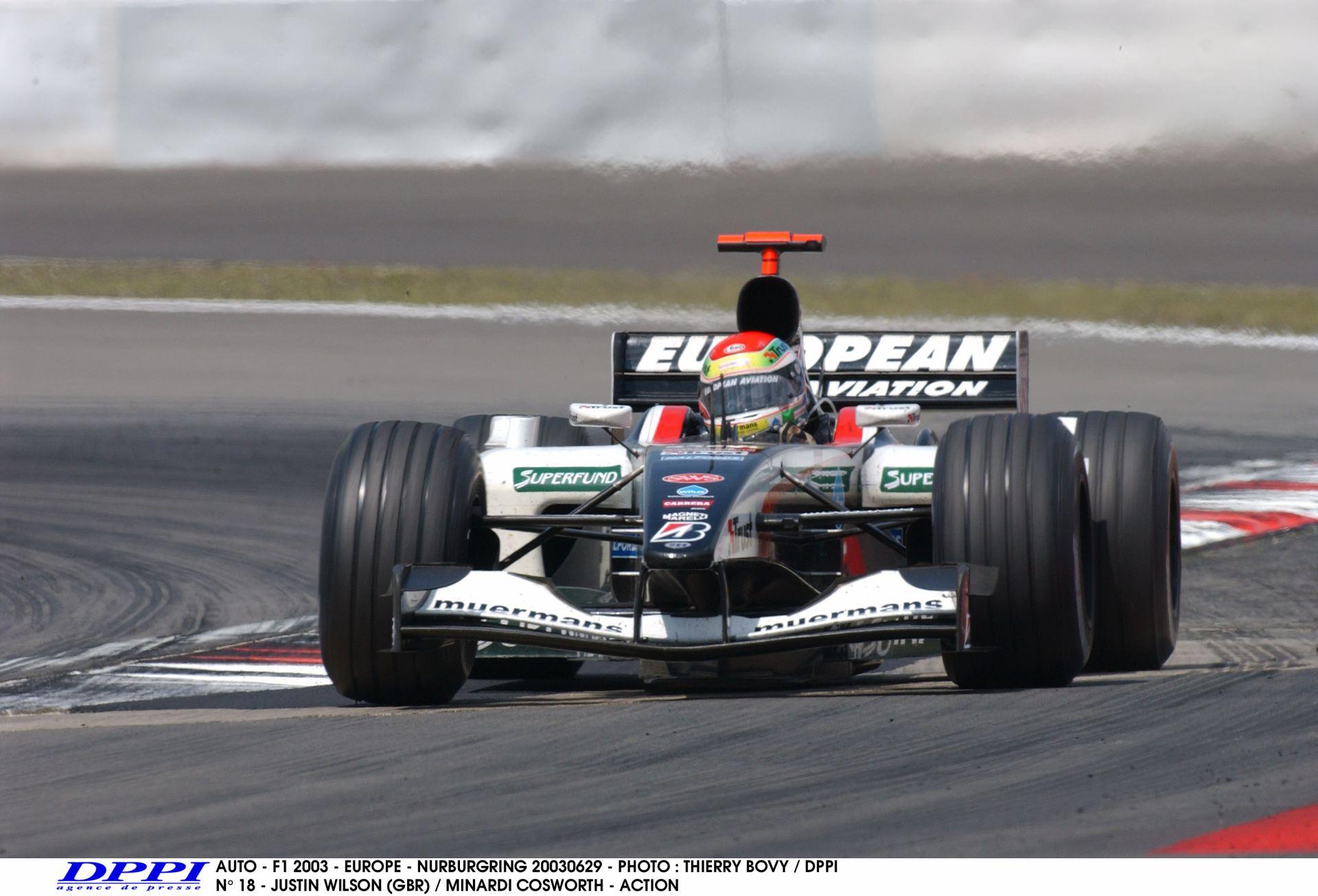 Képekben a nemrég elhunyt Justin Wilson F1-es karrierje