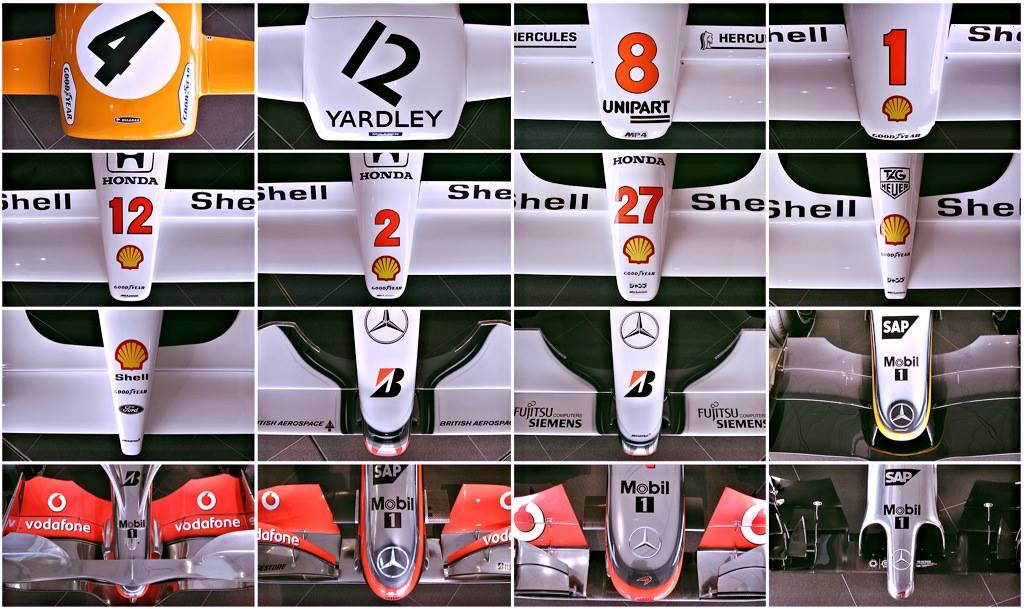 Egy látványos összeállítás a Mclarentől: Így változtak az F1-es orrok
