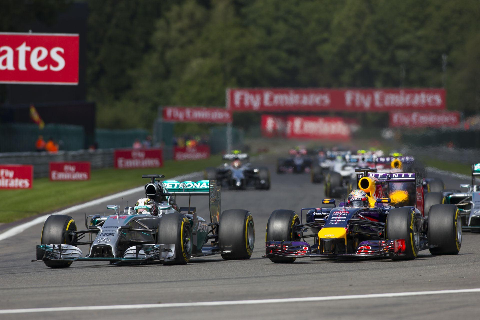 Ilyen hangos volt a 2014-es F1-es Belga Nagydíj startja: Amatőr felvétel