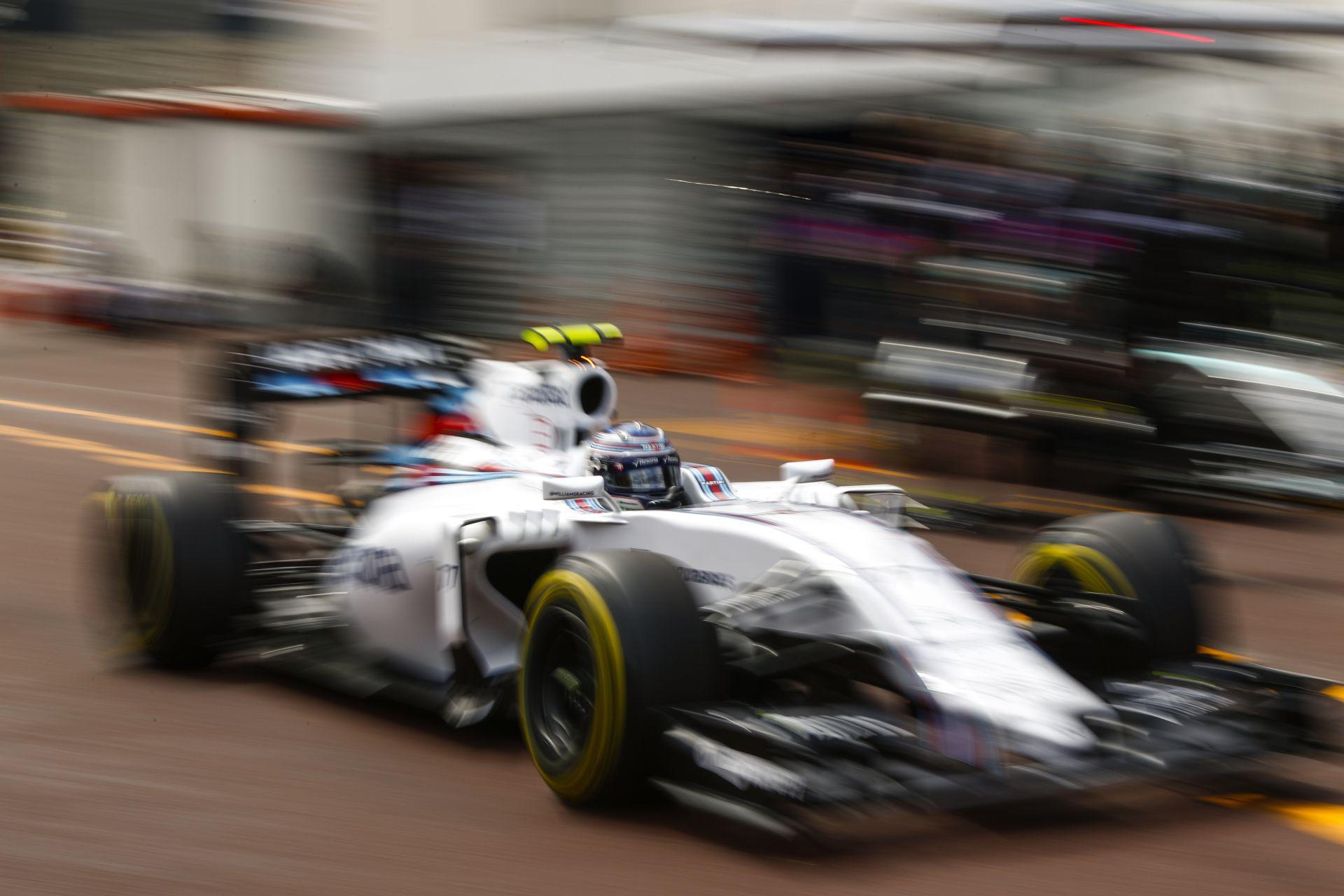 A Williams eddig sehol sincs Monacóban - talán majd szombaton!?