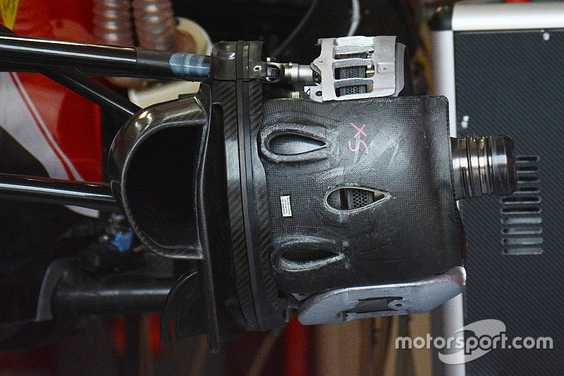 Breve análisis técnico: frenos delanteros del Ferrari SF16-H