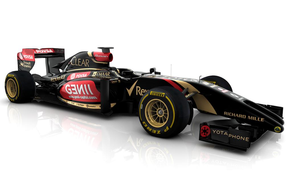 Rozmár és dupla fallosz a Lotus E22 orrán: grafikán a 2014-es Lotus (Frissítve)