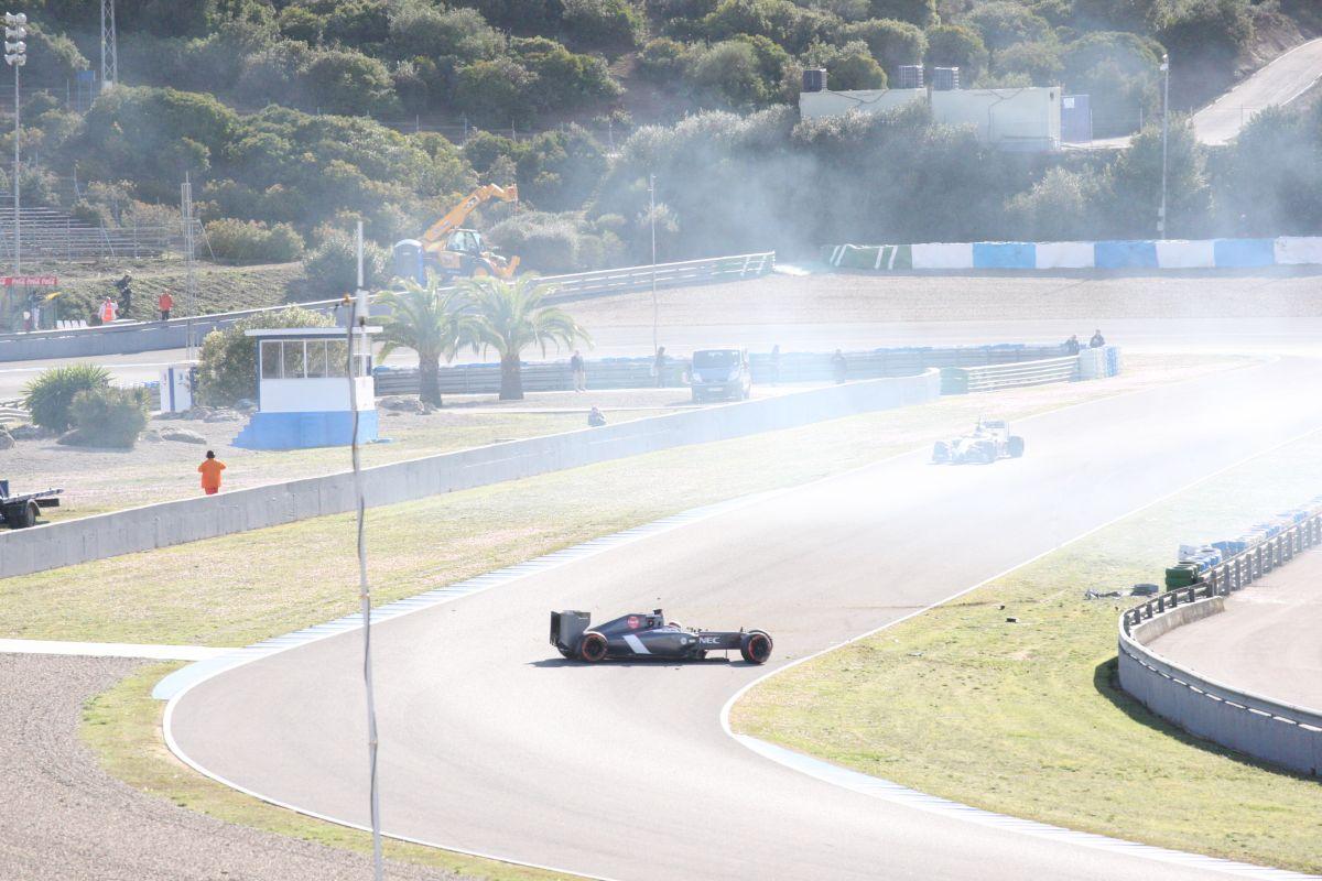Sauber: Sutil az első tesztnapján eldobta a gépet