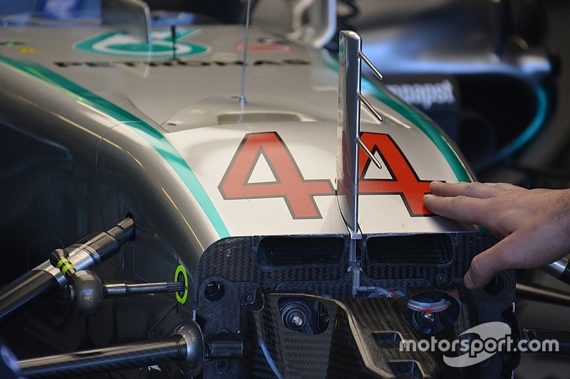 Tech update: Grotere S-duct opening voor Mercedes