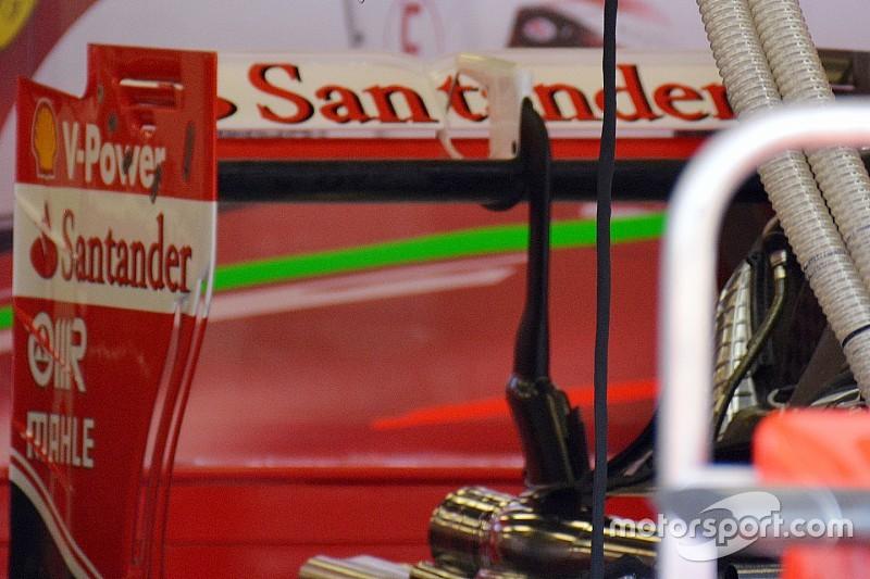 Ferrari: è nuova l'ala posteriore molto scarica
