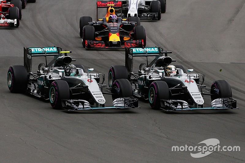 """Mercedes: """"Hamilton en Rosberg mogen vrij tegen elkaar blijven racen"""""""