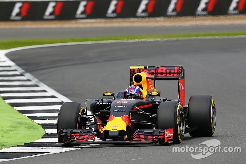 De startopstelling voor de Grand Prix van Groot-Brittannië