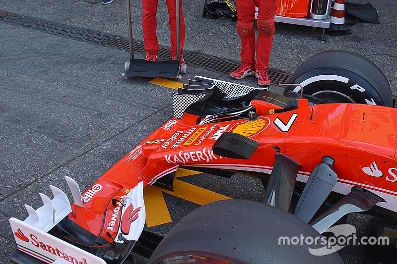 Tech update: Ferrari test doorbuiging voorvleugel