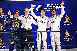 F1 Reporte de la carrera Un magistral Rosberg vence en Singapur y recupera el liderazgo