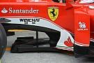 Técnica: bandeja divisora del Ferrari SF16-H en Malasia