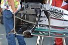 Técnica: alerón delantero del Mercedes W07 en Malasia