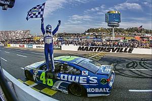 NASCAR Cup Rennbericht Dank Tempo und Glück in Martinsville: Jimmie Johnson im NASCAR-Finale