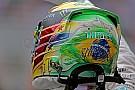Hamilton eert Senna met speciale helm voor Braziliaanse GP