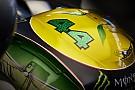 Közelről Hamilton Senna-sisakja: COOL