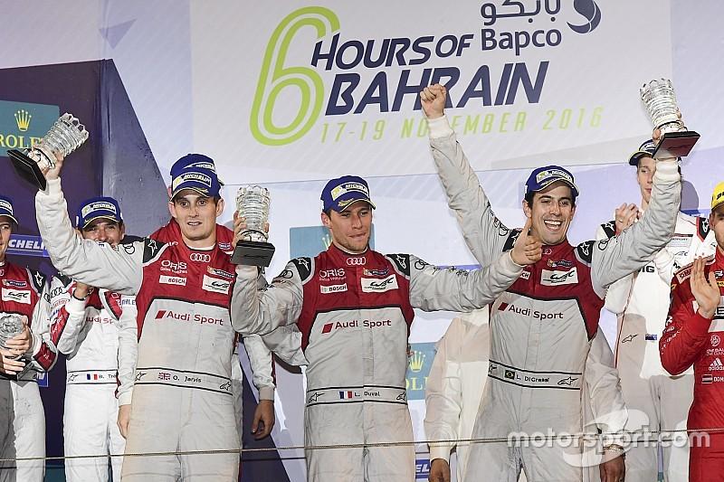 Гонщики Audi ледь стримували емоції після перемоги в Бахрейні