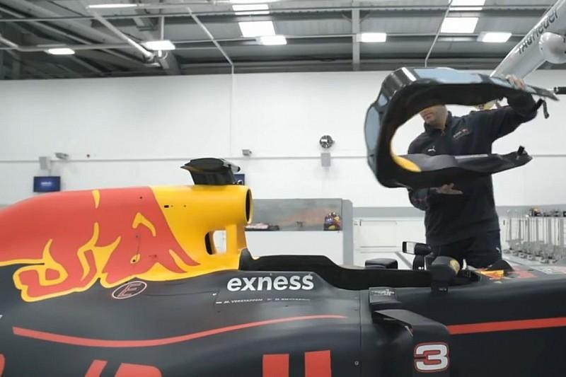 Red Bull mostra detalhes na fabricação do RB13