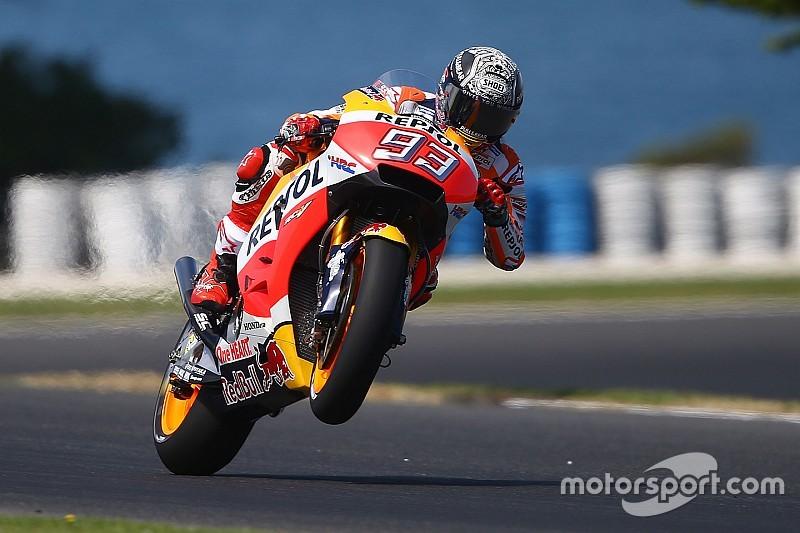 Márquez lidera 1º dia de teste na Austrália; Rossi é 2º