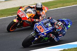 MotoGP Últimas notícias Viñales se irrita após Márquez segui-lo em simulação de GP