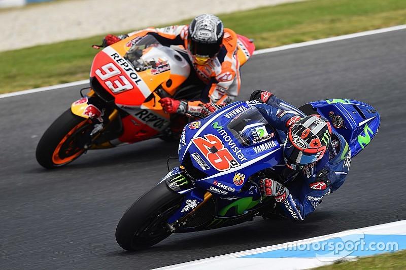 Viñales se irrita após Márquez segui-lo em simulação de GP