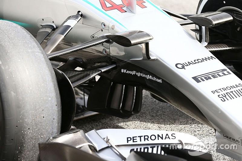 ¿Por qué Mercedes ya no lleva el mensaje de apoyo a Schumacher?
