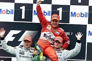 Formel 1 Historie Vor 17 Jahren: Rubens Barrichello trotzt dem Regen in Hockenheim