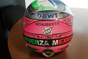 Fórmula 1 Noticias Checo Pérez presentó su casco para el GP de México