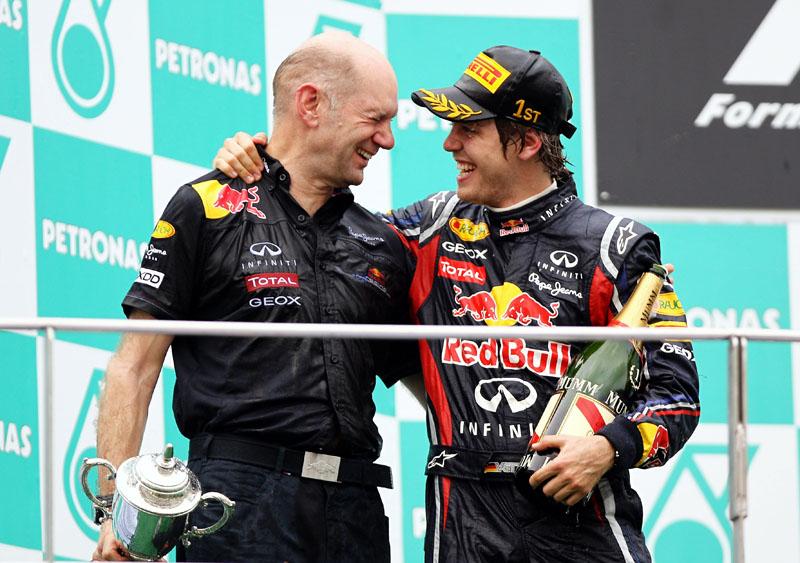 A parceria com Newey já deu um título e um vice para Vettel