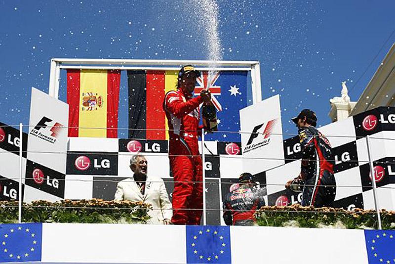 Alonso conquistou o terceiro pódio do ano