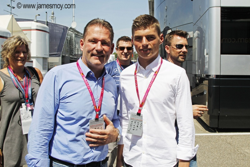 Jos e Max Verstappen trabalharam juntos pela vaga na Fórmula 1