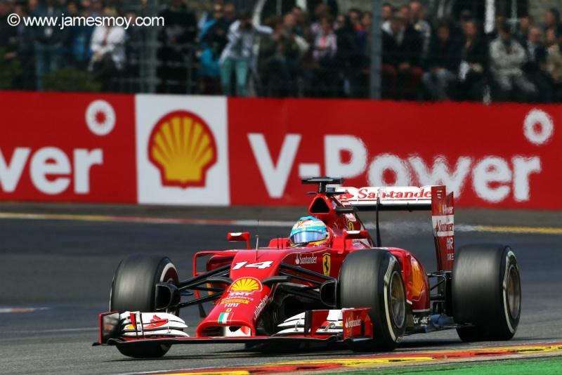 Alonso terminou bem o treino classificatório