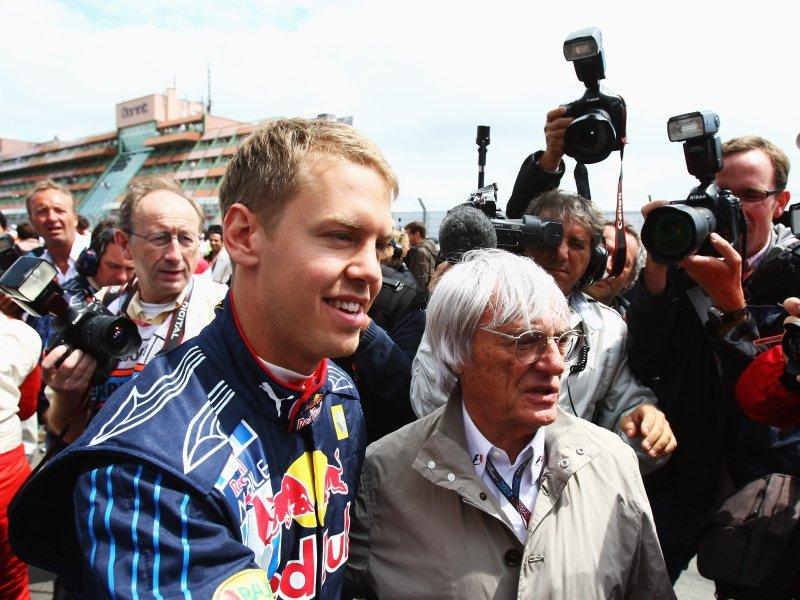 Sebastian Vettel e Bernie Ecclestone
