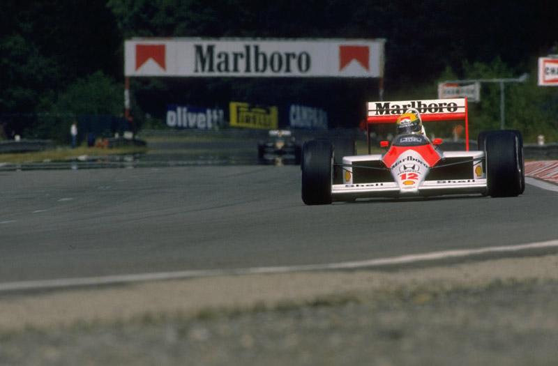 Carro de Senna em 88, último ano da era turbo na F-1