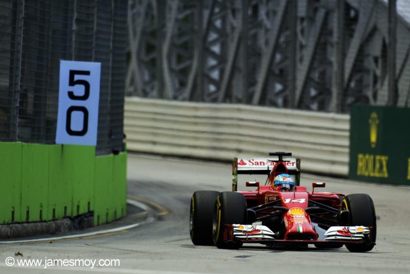 Fernando Alonso ficou pouco mais de 0s2 atrás do pole, Lewis Hamilton