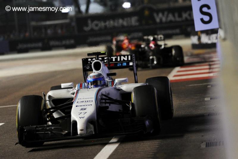 Bottas sofreu com os pneus no final da corrida