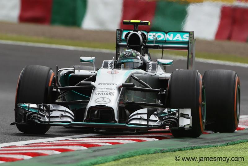 Rosberg dominou o treino de classificação e sairá em 1º