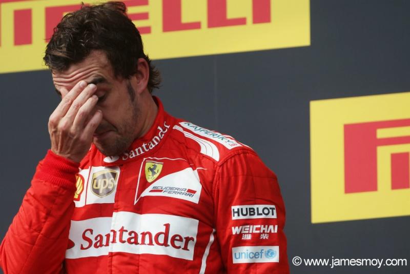 Alonso saiu insatisfeito com o desempenho da Ferrari