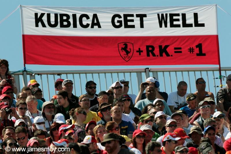 Kubica já sofreu acidente nos tempos de Fórmula 1