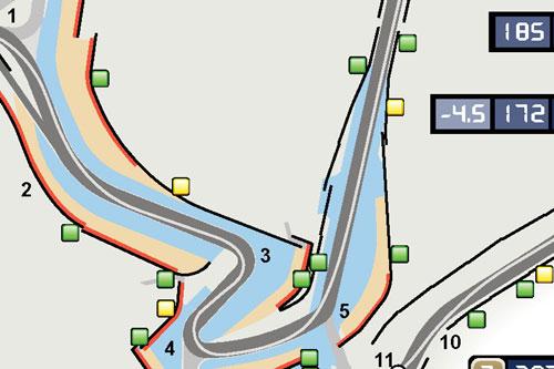 Local de ativação da asa móvel no GP britânico