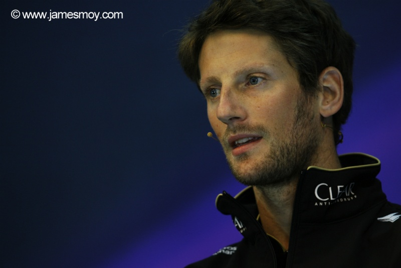 Grosjean deve permanecer na Lotus para 2015