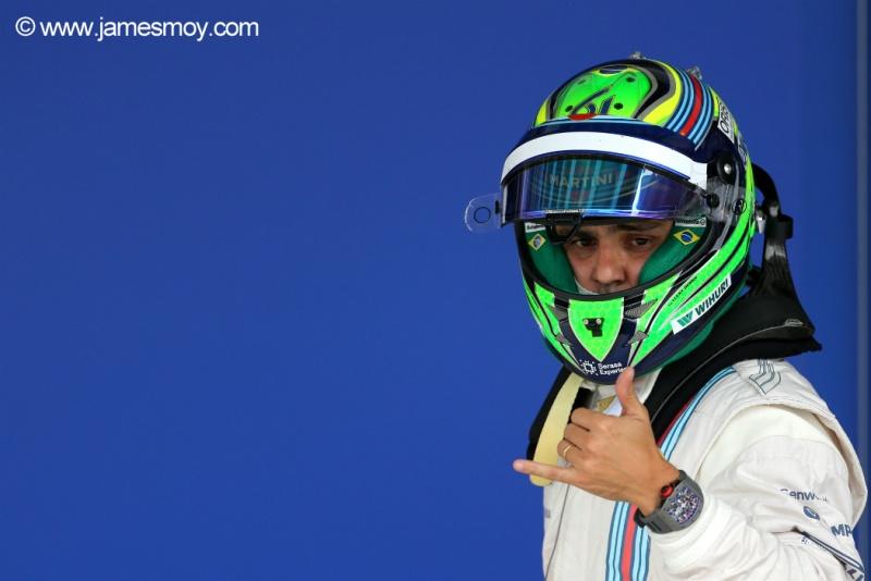Massa aprovou o desempenho deste sábado em SP