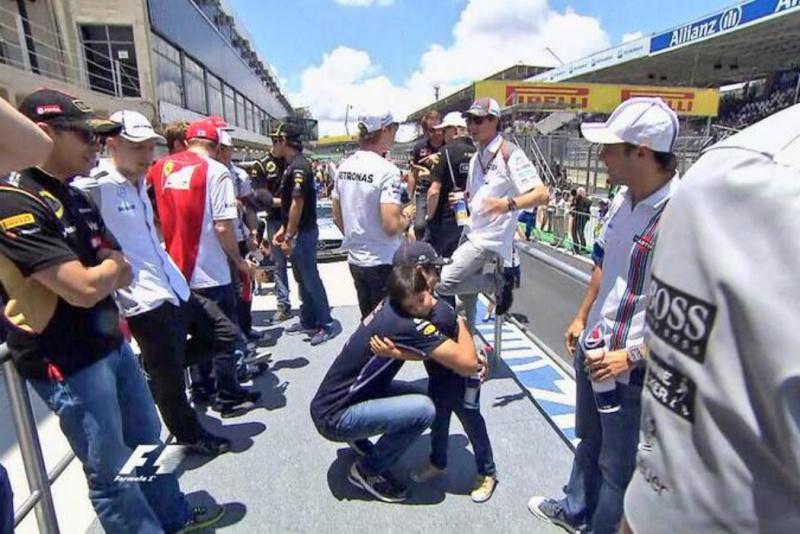 Filho de Felipe Massa se entrosou com Daniel Ricciardo