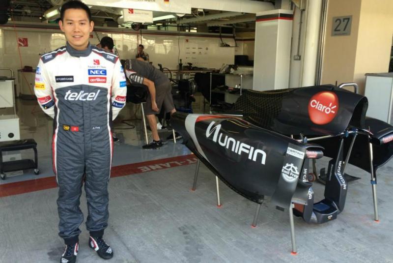 Fong já vestiu o macacão da Sauber em Abu Dhabi