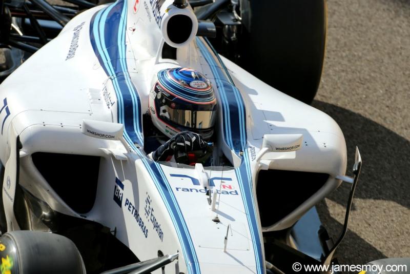 Bottas sairá em terceiro neste domingo