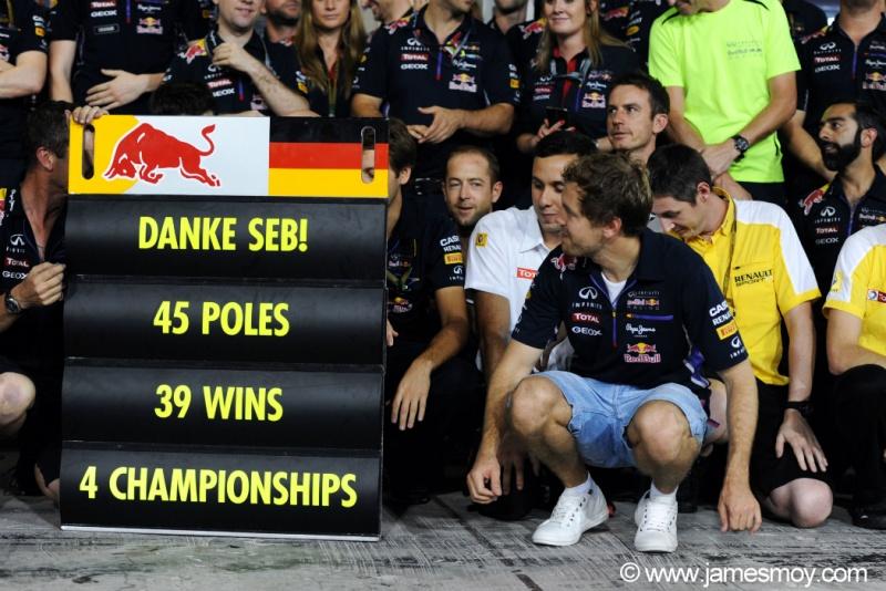 Vettel se despediu da Red Bull neste domingo