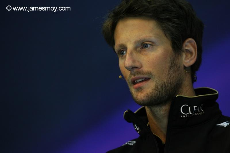 Grosjean enfrentou dificuldades com a Lotus neste ano