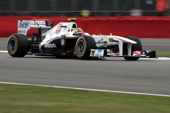 Sergio Perez em Silverstone