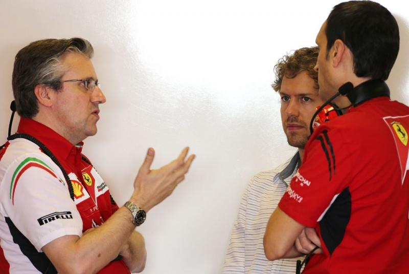 Fry (esq) chegou na Ferrari em 2010