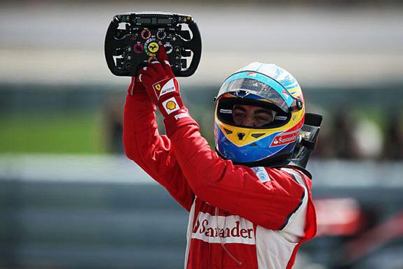 Alonso comemora sua primeira vitória do ano