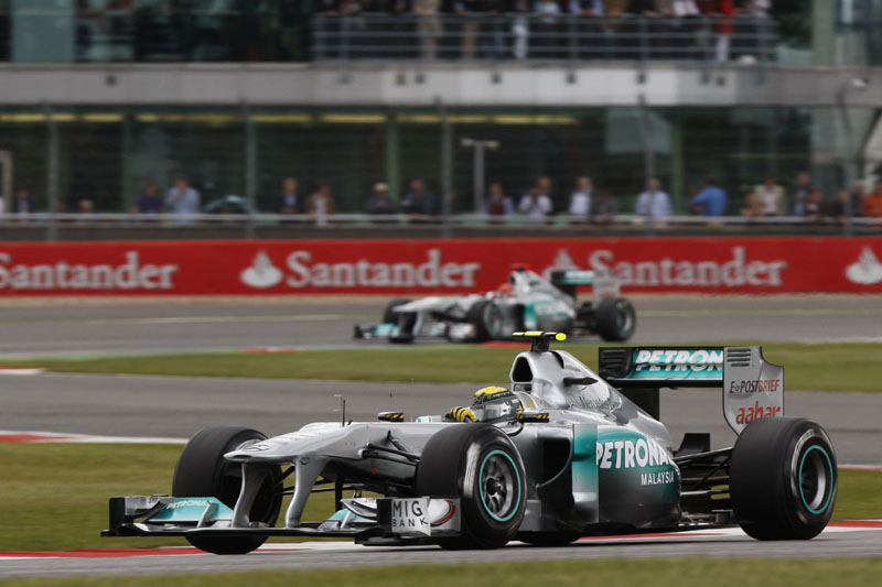 Rosberg e Schumacher