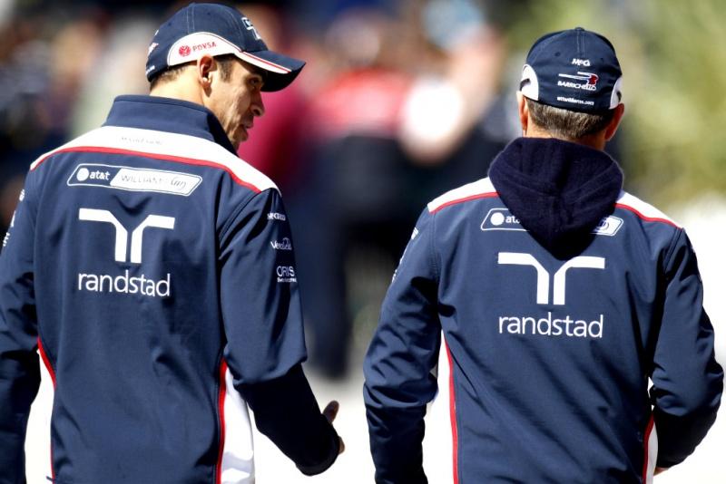 Pastor Maldonado e Rubens Barrichello, ambos da Williams